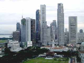 SingaporeSkyline: Financial district, Singapore