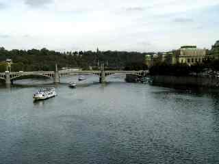 vltava: Vltava River in Prague